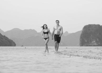 Walk on the beach in Titop Island